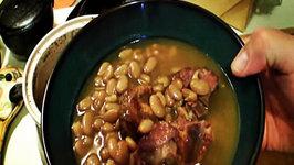 South Texas Pinto Beans and Smoked Pork Neck Bones