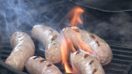 Apple Ale Simmered Brats on the Grill!