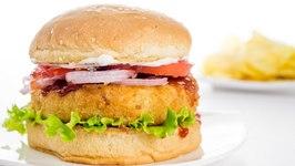 Veggie Burger  Indian Style Veg Aloo Tikki Burger