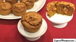 Caramel Stuffed Spiced Pumpkin Muffins 3 Ingredients