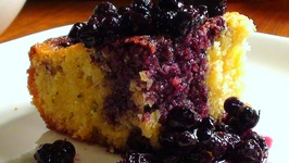 Polenta Pound Cake Recipe with Blueberries and Thyme