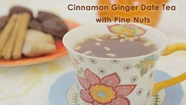 Cinnamon Ginger Date Tea With Pine Nuts
