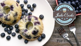 Mini Blueberry Snack Cakes For Two