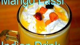 Mango Lassi - Indian flavored Yogurt Drink
