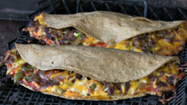 Turkey Sausage Quesadilla Recipe - Wood fire cooked on the Scottsdale