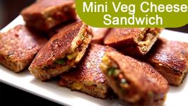 Mini Veg Cheese Sandwich  Easy To Make Snack Recipe  Ruchi's Kitchen
