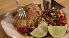Tex Mex Chicken Parm with Black Bean Salsa