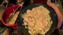 Sapo's Tightened Up Shrimp Fettuccine Alfredo