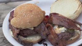 Kickin' Bison Burgers with Sriracha Candied Bacon