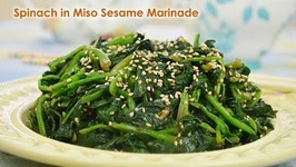 Spinach in Miso Sesame Garlic Marinade