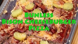BunlessCrustless Bison Cheeseburger Pizza