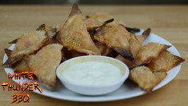 Grilled Buffalo Chicken Wontons