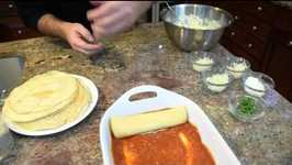 Homemade 6 Cheese Manicotti Made With Crepes