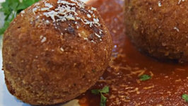 Sicilian Stuffed Rice Balls with Goat Cheese Arancini