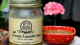 Avocado Tomatillo Hot Salsa