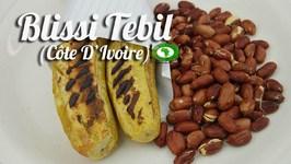 Blissi Tebil (Plaintain mûr braisé and arachides grillées)