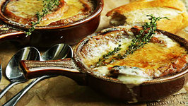 Homemade French Onion Soup with Gruyere Cheese