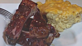 Ribs and Mac and Cheese on the Green Mountain Grill