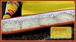 Paneer Flowers - Steamed Snack Recipe