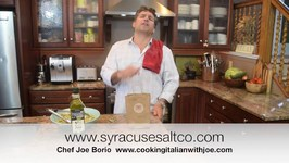 Syracuse Salt Company Natural Sea Salt Cooking Italian with Joe