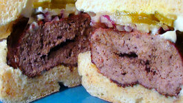 Big V's Big Man Bourbon Burgers