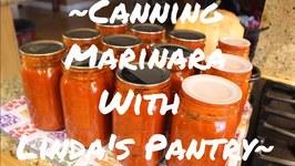 Canning Delicious Marinara