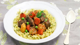 Beef Stew With Buttered Noodles