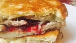 Thanksgiving Leftover Grilled Cheese -In The Kitch