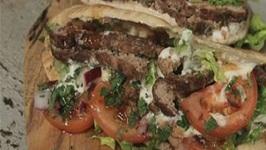 Homemade Lamb Kebabs In Warm Pitta