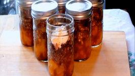 Peach Breakfast Crisp in a Jar