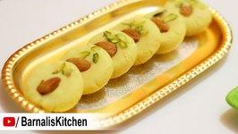Milk Peda or Kesar Peda -Quick and Easy Malai Peda Recipe -Indian Dessert Recipe - Navratri