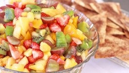 Fresh Fruit Salsa w Cinnamon Sugar Tortilla Chips
