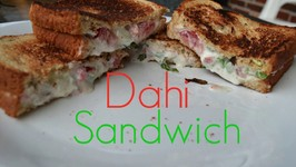 Curd Sandwich  Yogurt Sandwich - Kids Lunch Box Recipe