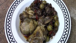 Pressure Cooker Chicken with Sausage Beans and Olives