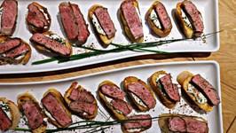 Blue Cheese Steak Crostini  Weber Grilltank