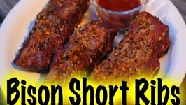 Bison Short Ribs On The Grill Dome (how to)