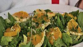 Orange Salad with Salad Dressing
