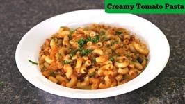 Creamy Tomato Macaroni - Quick Tiffin  Snack