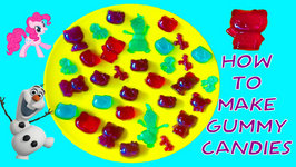 How To Make Gummy Candy DIY How To Video Hello Kitty MLP Frozen Videos For Children