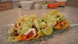 How to Cook Ground Beef and Refried Bean Tostadas