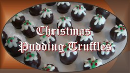 Christmas Pudding Truffles (Chocolate And Marzipan)