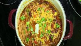 One Pot Chilighetti - Chili Spaghetti