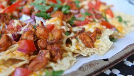 Easy And Quick BBQ Chicken Nachos
