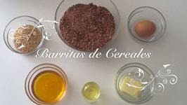 Barritas de Cereales con Chocolate con Thermomix   Como hacer Barritas de Cereales de Chocolate