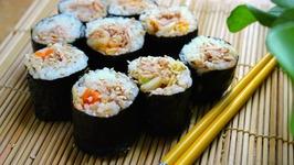 Kimchi Tuna Kimbap Rolls