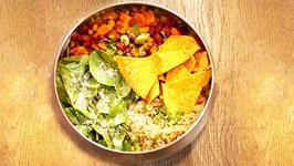 Mexican Bean and Spinach Quinoa Salad - Quick and Simple Recipe