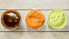 3 Chutneys Recipe  Meethi Chutney Allam  Ginger Red Pachadi  Curry Leaf Cashew Green Chutney