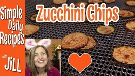 Zucchini Chips from the Dehydrator- Test Run