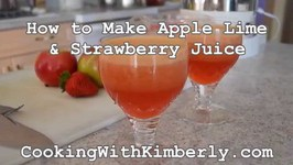 How to Make Apple Lime and Strawberry Juice