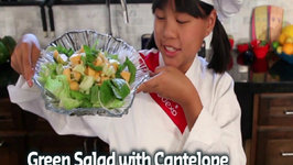 Green Salad with Cantelope